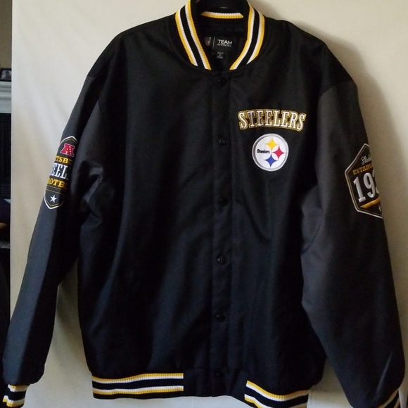 e52f748c9 PITTSBURGH STEELERS LETTERMAN JACKET SIZE XL